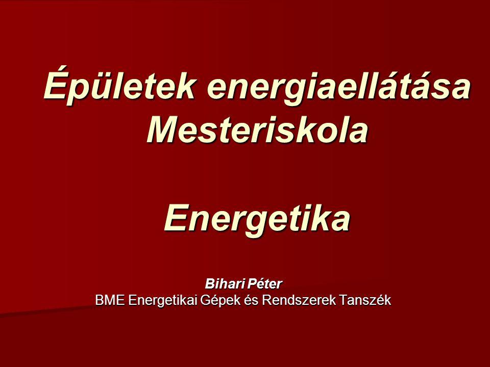 Intézményi energiagazdálkodás Energiagazdálkodási szervezet