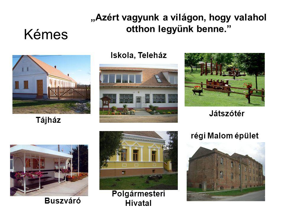 """Kémes Tájház Buszváró Polgármesteri Hivatal Iskola, Teleház Játszótér régi Malom épület """"Azért vagyunk a világon, hogy valahol otthon legyünk benne."""""""