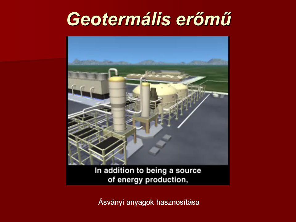 Geotermális erőmű Ásványi anyagok hasznosítása