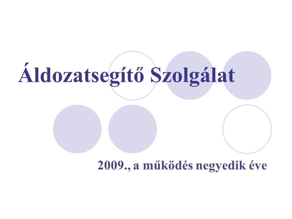 2009., a működés negyedik éve Áldozatsegítő Szolgálat