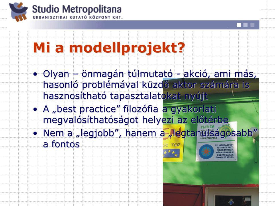 Milyen a jó modellprojekt.