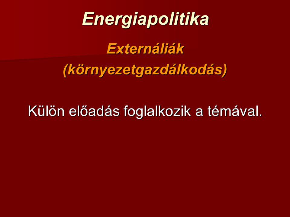 EnergiapolitikaEnergiaellátási forgatókönyvek elemzése