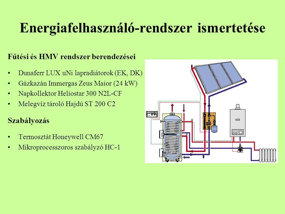 Energiafelhasználó-rendszer ismertetése Fűtési és HMV rendszer berendezései Dunaferr LUX uNi lapradiátorok (EK, DK) Gázkazán Immergas Zeus Maior (24 k