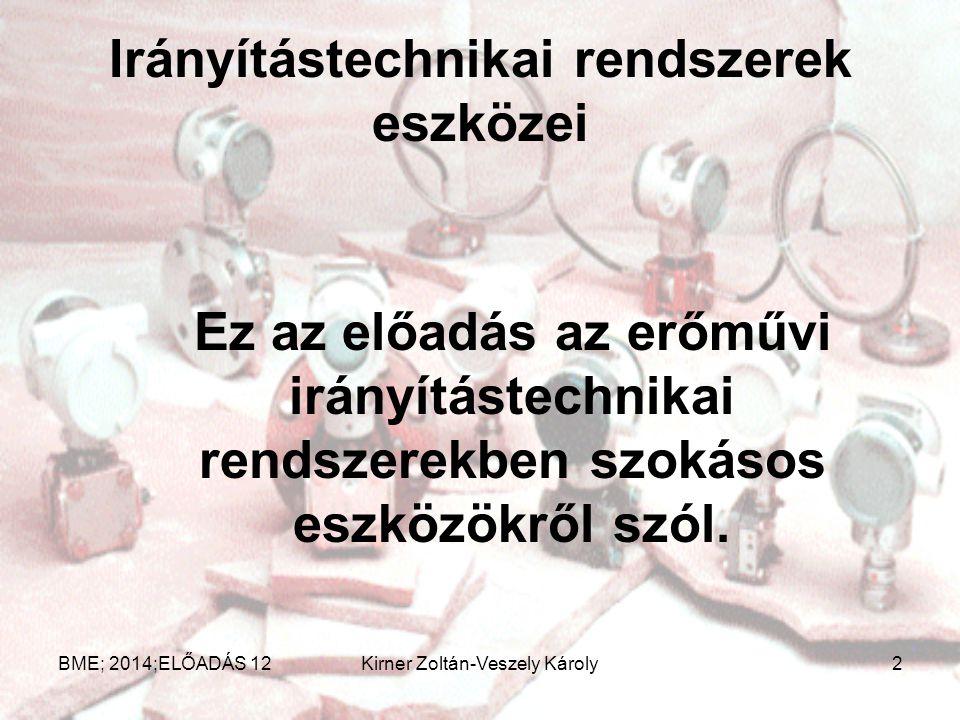 Számítógépes szabályozás BME; 2014;ELŐADÁS 12Kirner Zoltán-Veszely Károly