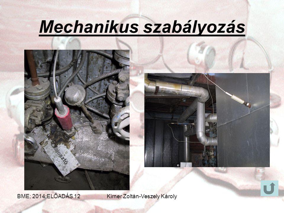 Példák szabályozásokra Mechanikus szabályozásAnalóg szabályozásDigitális szabályozásSzámítógépes szabályozás BME; 2014;ELŐADÁS 12Kirner Zoltán-Veszely