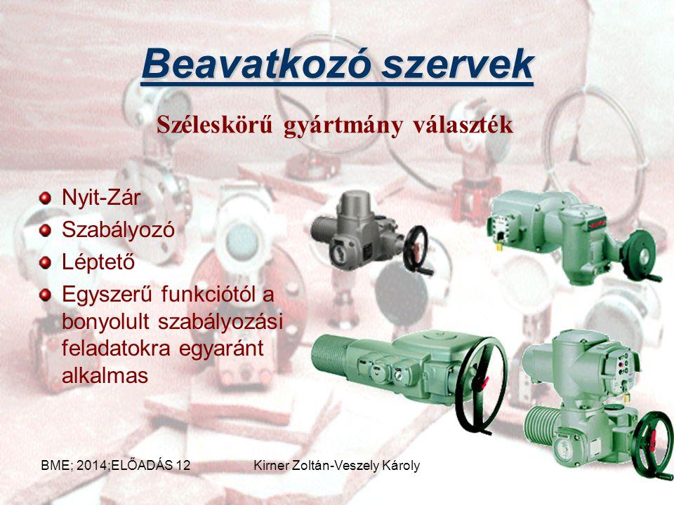 Intelligens beavatkozó szervek Gőz rendszer Tápvíz rendszer Hűtővíz rendszer Tüzivíz rendszer Vízüzem Még számos helyen Minden technológiában megtalál
