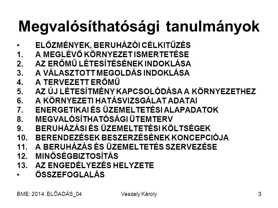 BME: 2014. ELŐADÁS_04 Veszely Károly24