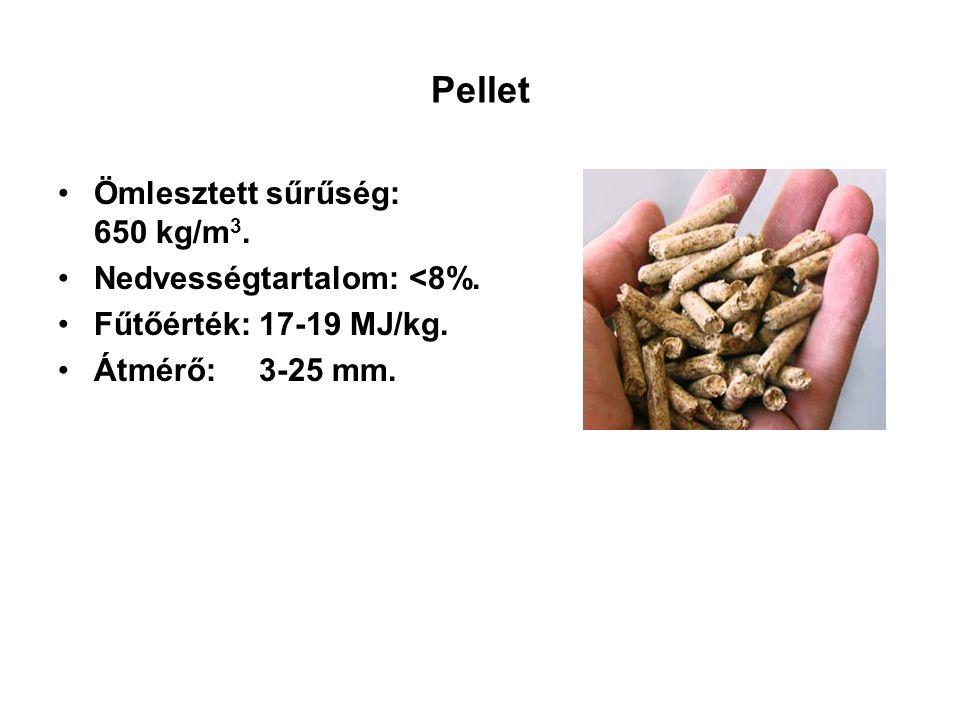 Biomassza tüzeléstechnikai jellemzői Összetétel: –C: 45-50% –O: 40-45% –H: 6% –S: 0,02-0,1% Illóanyag: 70-85% Kevesebb égési levegő, kevesebb füstgáz Fűtőértéket alig növeli Lignit: 1-1,5 %