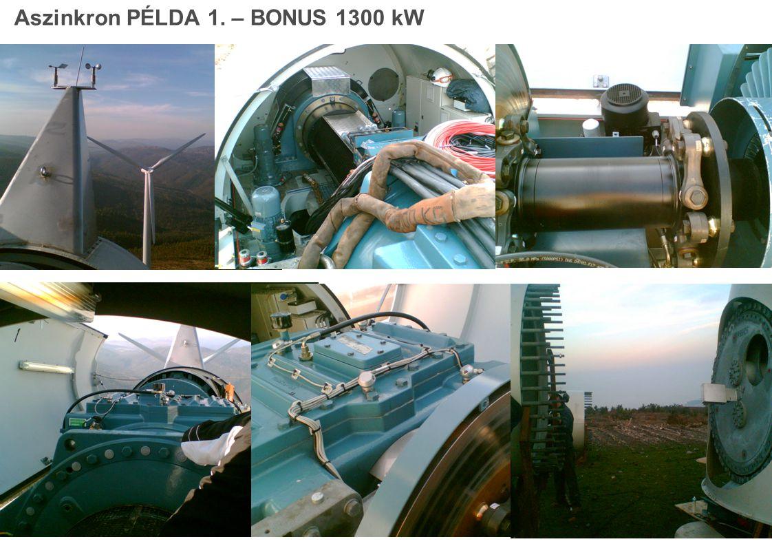 Aszinkron PÉLDA 1. – BONUS 1300 kW