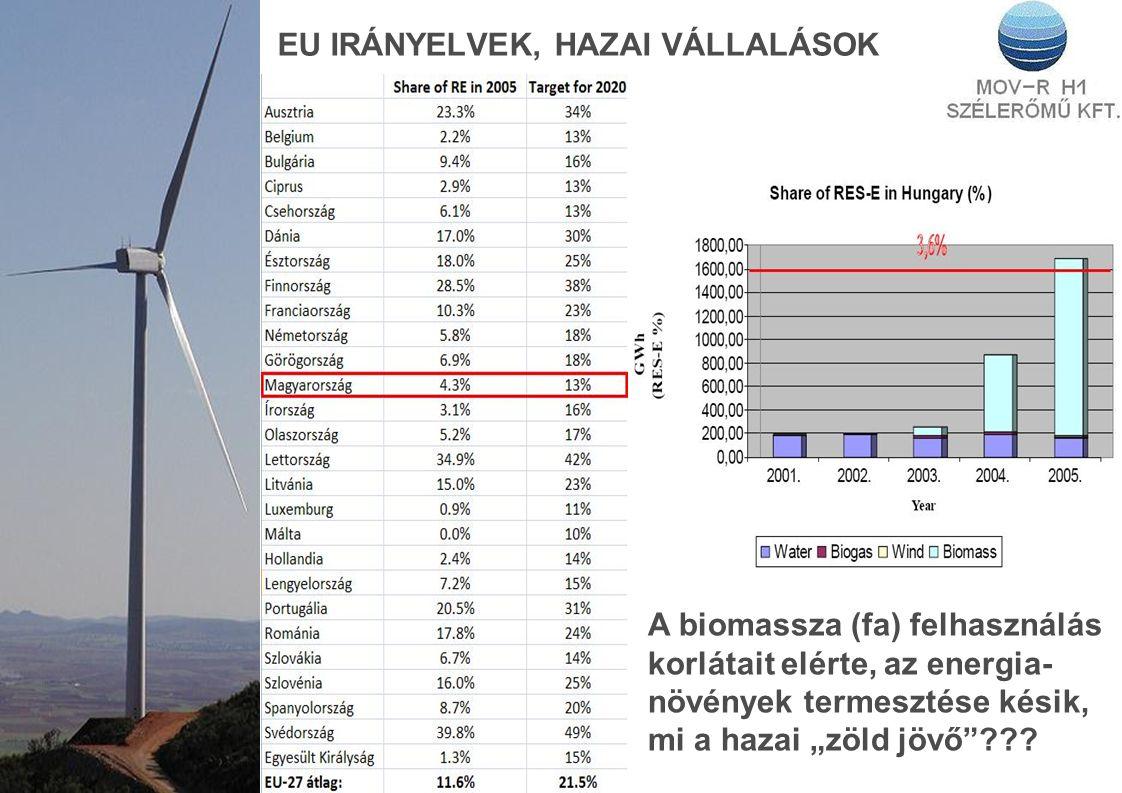 """EU IRÁNYELVEK, HAZAI VÁLLALÁSOK A biomassza (fa) felhasználás korlátait elérte, az energia- növények termesztése késik, mi a hazai """"zöld jövő ???"""