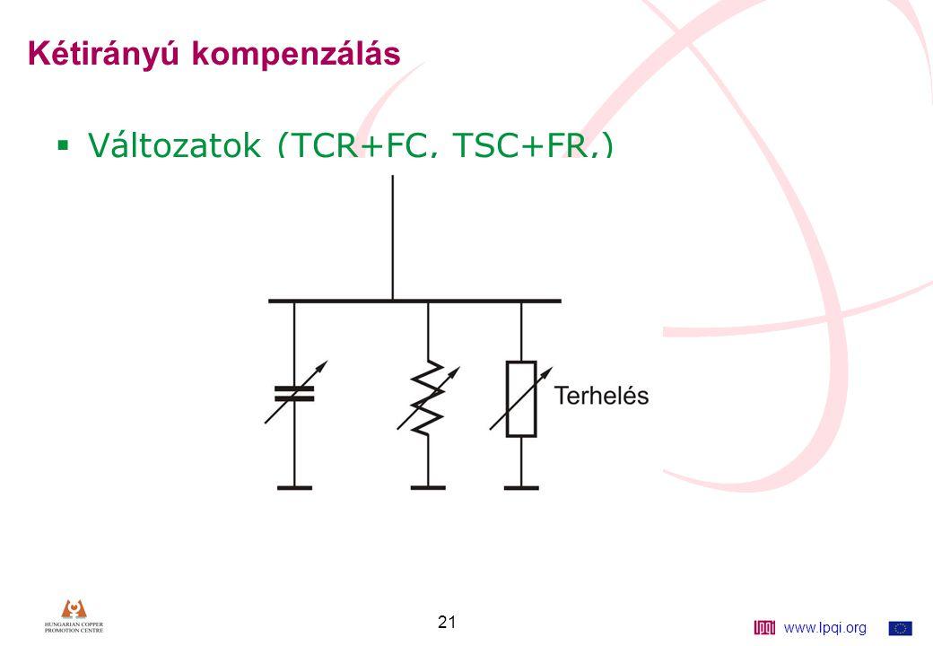 www.lpqi.org 21 Kétirányú kompenzálás  Változatok (TCR+FC, TSC+FR,)