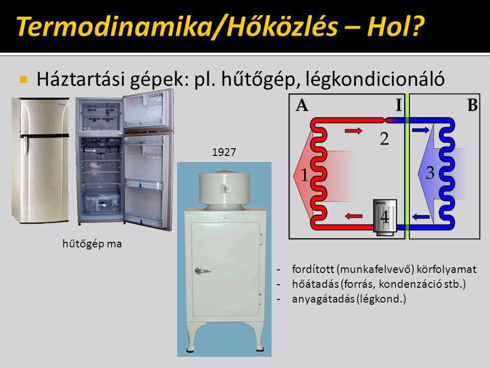  Háztartási gépek: pl.