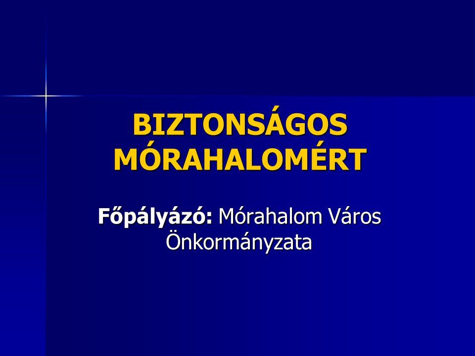 BIZTONSÁGOS MÓRAHALOMÉRT Főpályázó: Mórahalom Város Önkormányzata