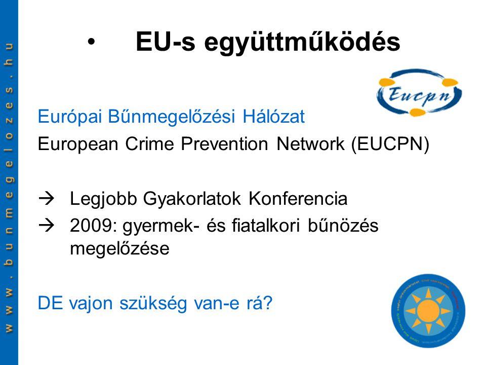 Európai Bűnmegelőzési Hálózat European Crime Prevention Network (EUCPN)  Legjobb Gyakorlatok Konferencia  2009: gyermek- és fiatalkori bűnözés megel