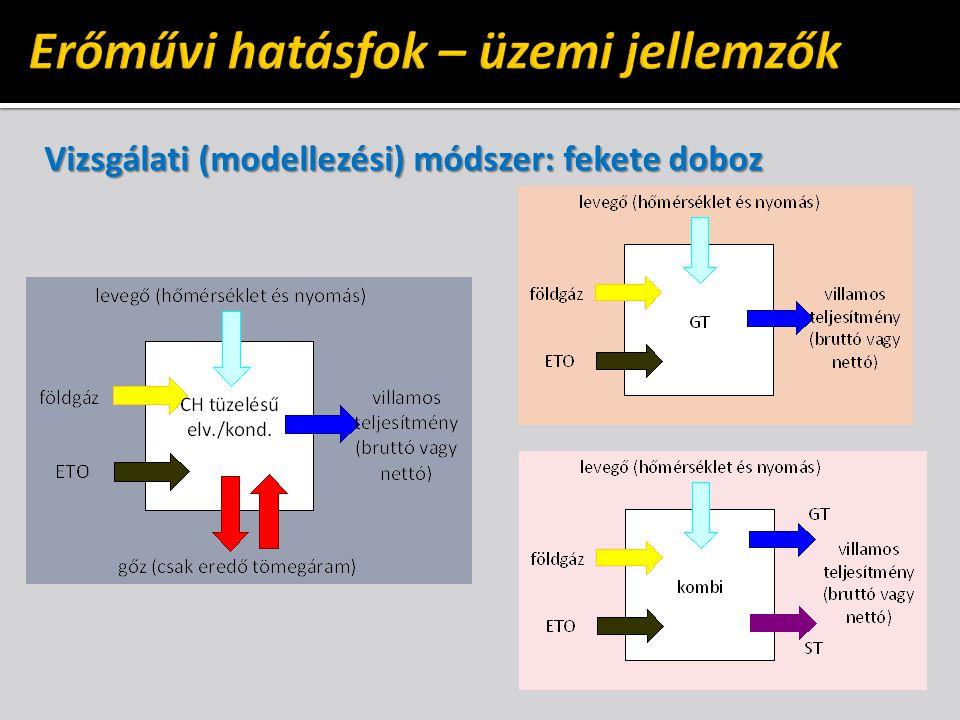 Vizsgálati (modellezési) módszer: fekete doboz