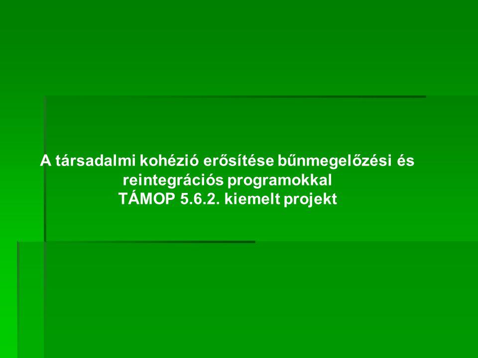 A társadalmi kohézió erősítése bűnmegelőzési és reintegrációs programokkal TÁMOP 5.6.2.