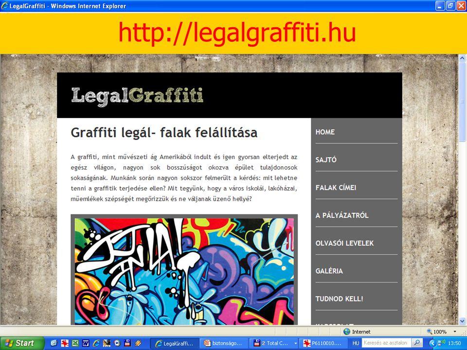 Graffiti-tevékenység 3. http://legalgraffiti.hu