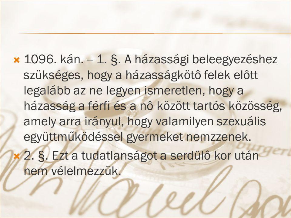  1096. kán. -- 1. §.
