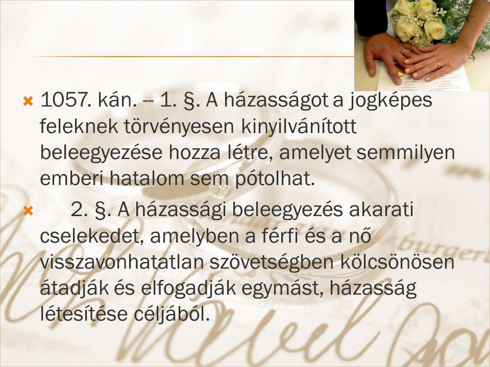  1057. kán. -- 1. §.