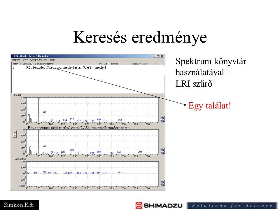 Keresés eredménye 192 Hexadecanoic acid, methyl ester (CAS), methyl Hexadecanoic acid, methyl ester (CAS), methhyl hexadecanoate Spektrum könyvtár has