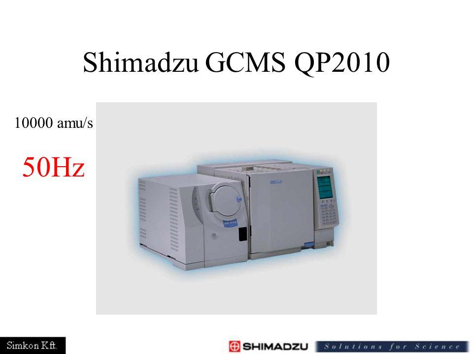 Shimadzu GCMS QP2010 10000 amu/s 50Hz