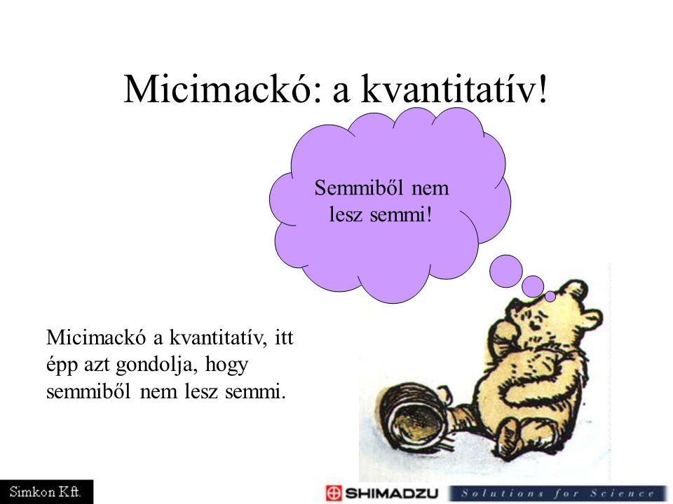 Micimackó: a kvantitatív! Semmiből nem lesz semmi! Micimackó a kvantitatív, itt épp azt gondolja, hogy semmiből nem lesz semmi.