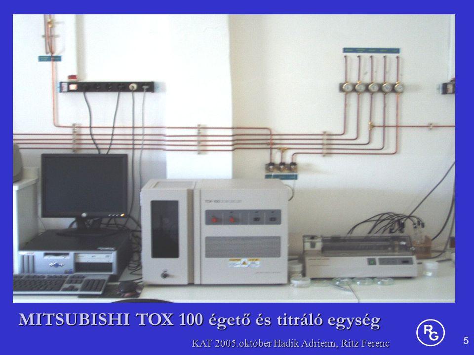 5 KAT 2005.október Hadik Adrienn, Ritz Ferenc MITSUBISHI TOX 100 égető és titráló egység