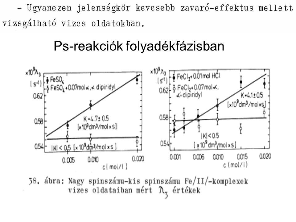Ps-reakciók folyadékfázisban