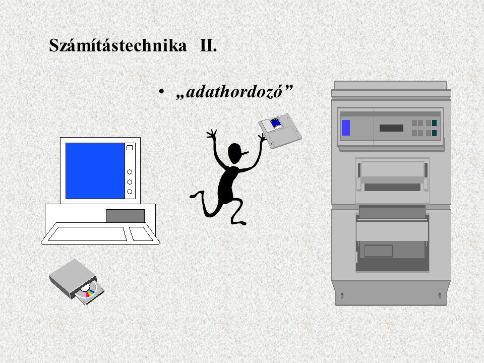 """Számítástechnika II. """"adathordozó"""