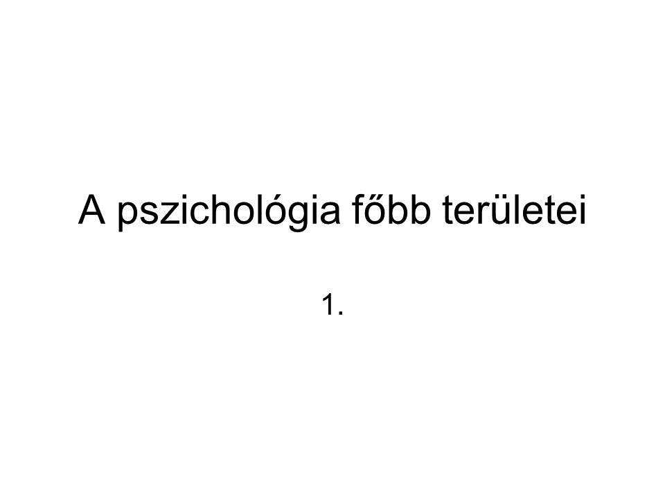 A pszichológia főbb területei 1.