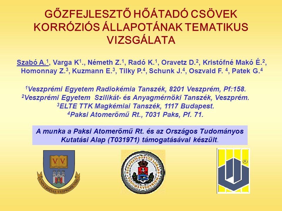 1 Veszprémi Egyetem Radiokémia Tanszék, 8201 Veszprém, Pf:158.
