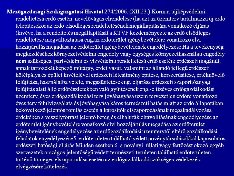 Mezőgazdasági Szakigazgatási Hivatal 274/2006.(XII.23.) Korm.r.