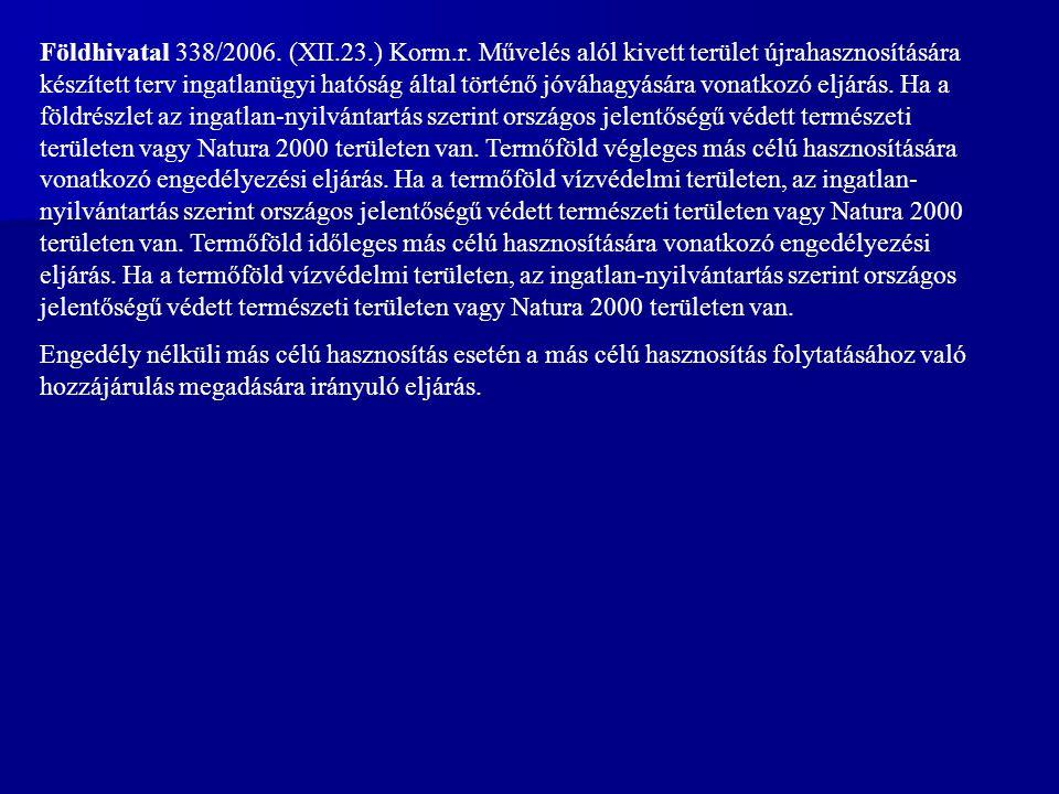 Földhivatal 338/2006.(XII.23.) Korm.r.
