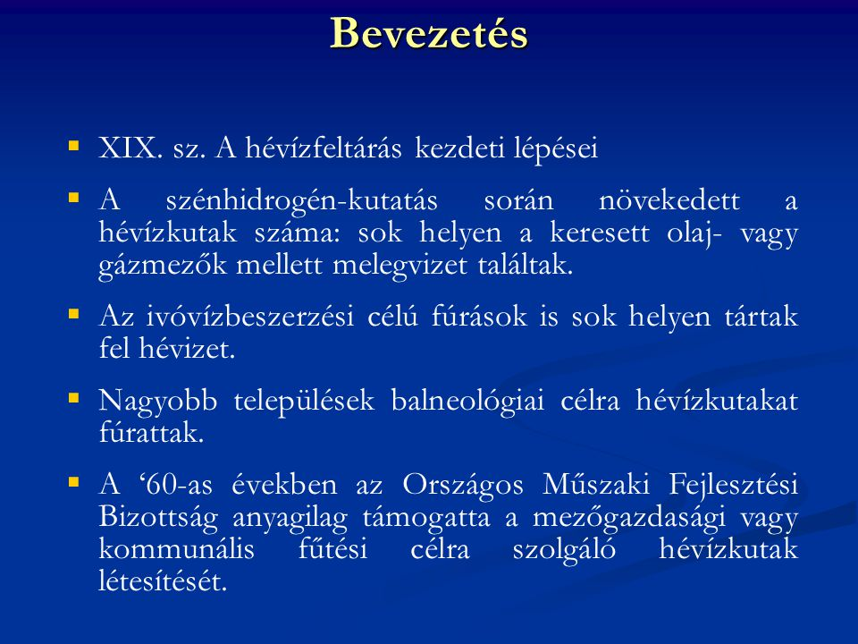 Bevezetés  XIX.sz.