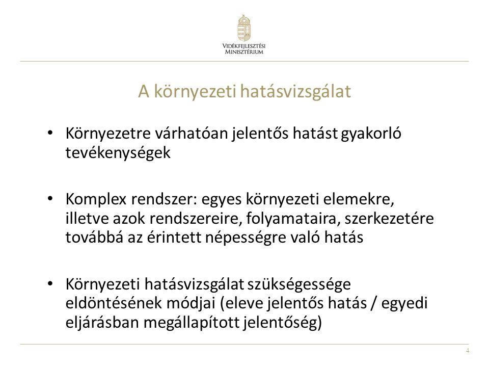 15 Problémás területek, megoldási javaslatok 314/2005.