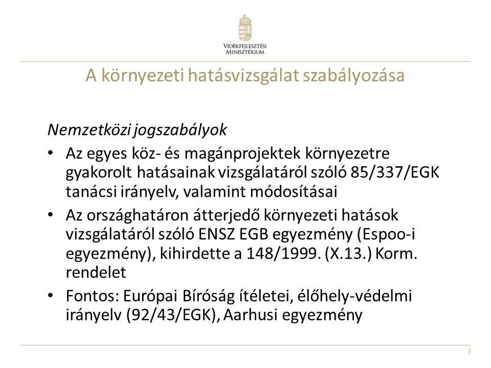 16 Problémás területek, megoldási javaslatok 314/2005.