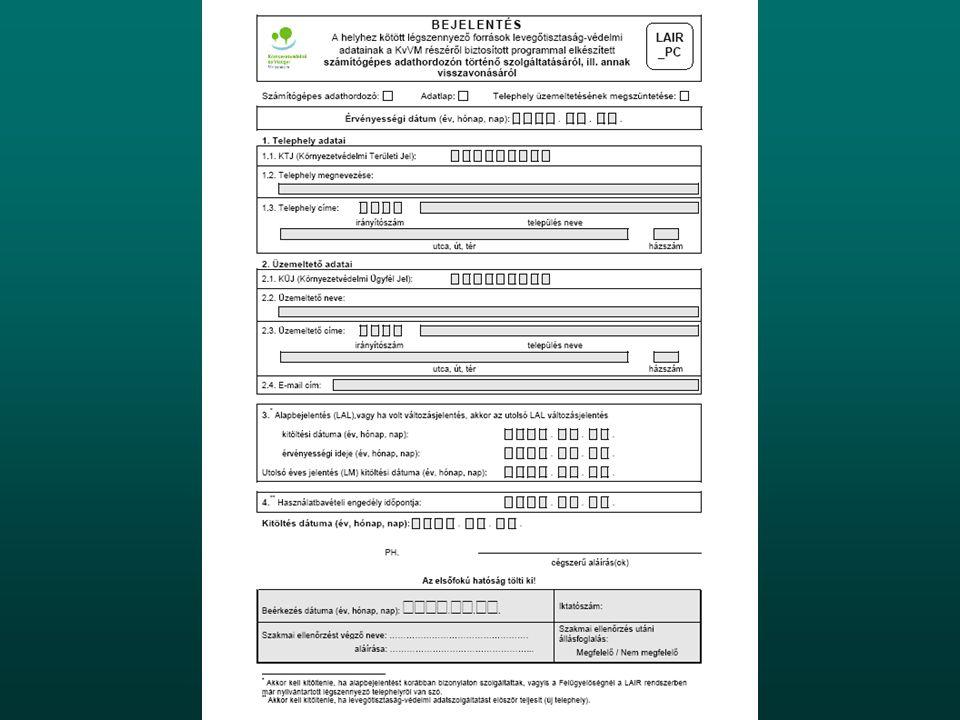 Internetes regisztráció Bejelentkezés után érdemes regisztráltatnia magát az adatszolgáltatónak a www.kvvm.hu/lair pcadat címen (KÜJ, KTJ, email cím szükséges).Bejelentkezés után érdemes regisztráltatnia magát az adatszolgáltatónak a www.kvvm.hu/lair pcadat címen (KÜJ, KTJ, email cím szükséges).