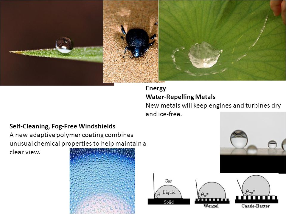 Energy Water-Repelling Metals New metals will keep engines and turbines dry and ice-free.