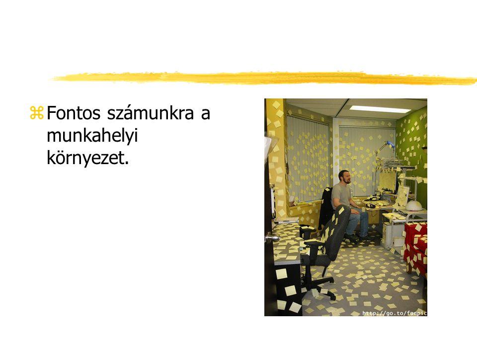 zFontos számunkra a munkahelyi környezet.
