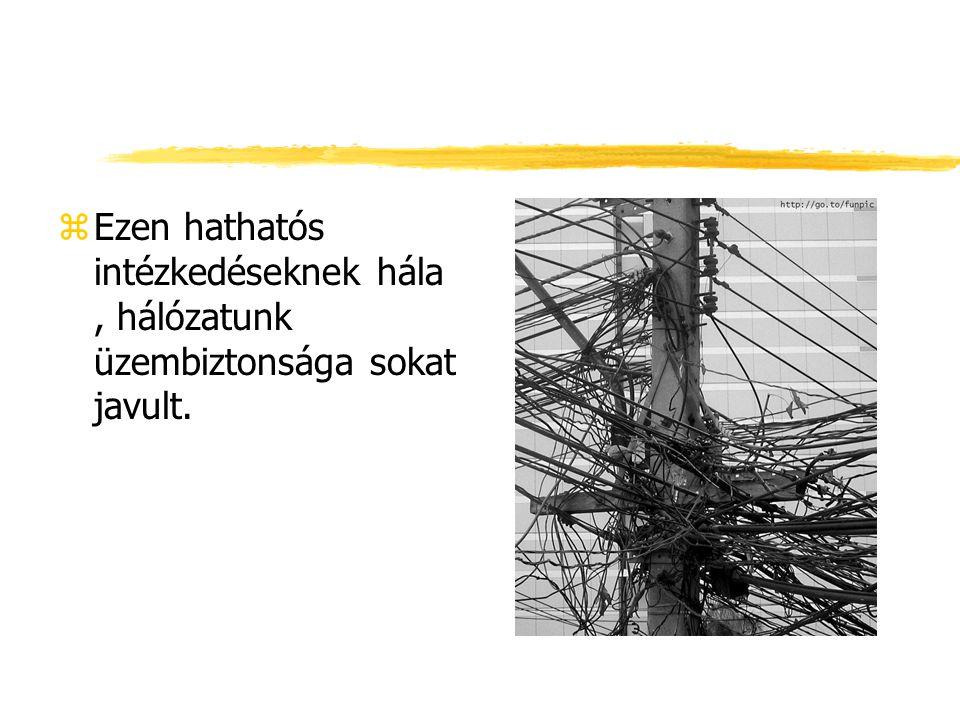 zEzen hathatós intézkedéseknek hála, hálózatunk üzembiztonsága sokat javult.