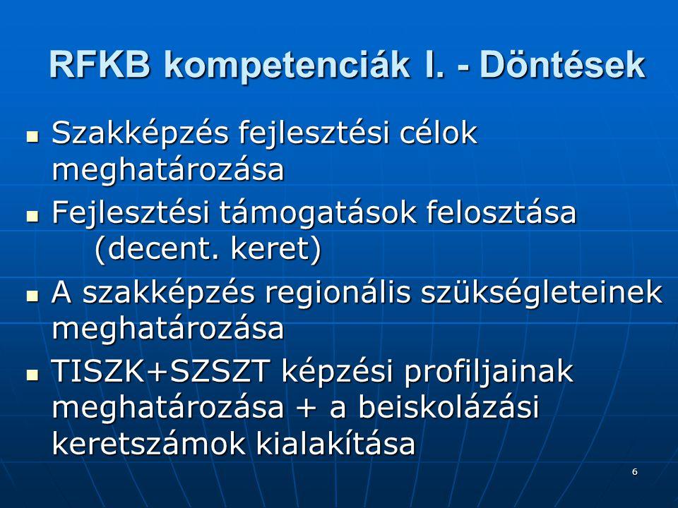 6 RFKB kompetenciák I.