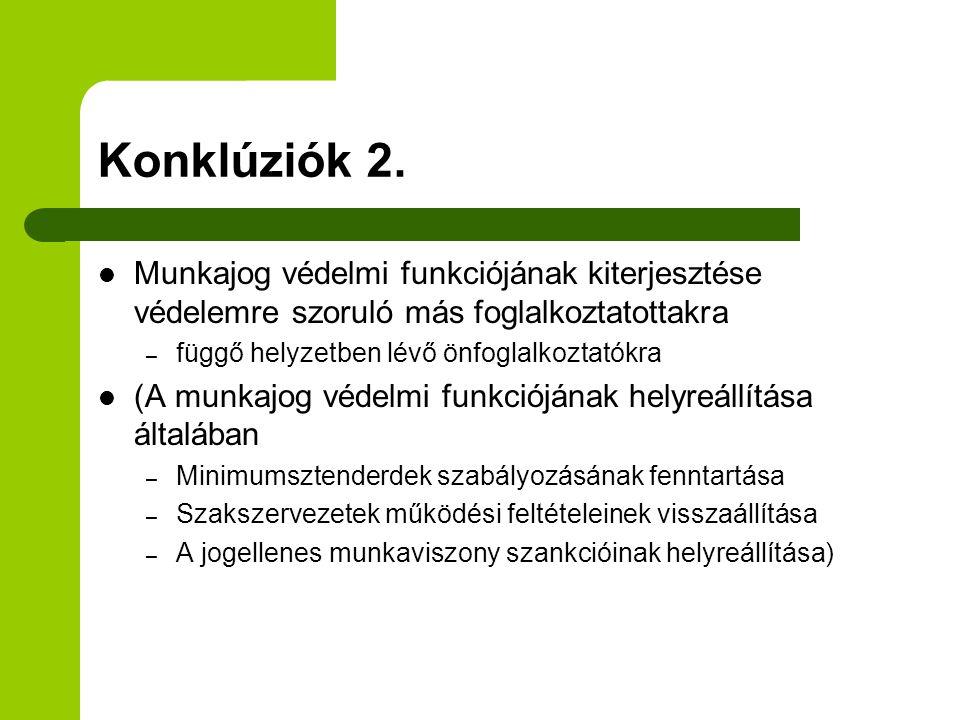 Konklúziók 2.