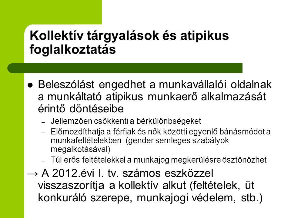 Konklúziók 1.Neo-liberális szabályozási megközelítés felülvizsgálata (munkajogi dereguláció: 2012.