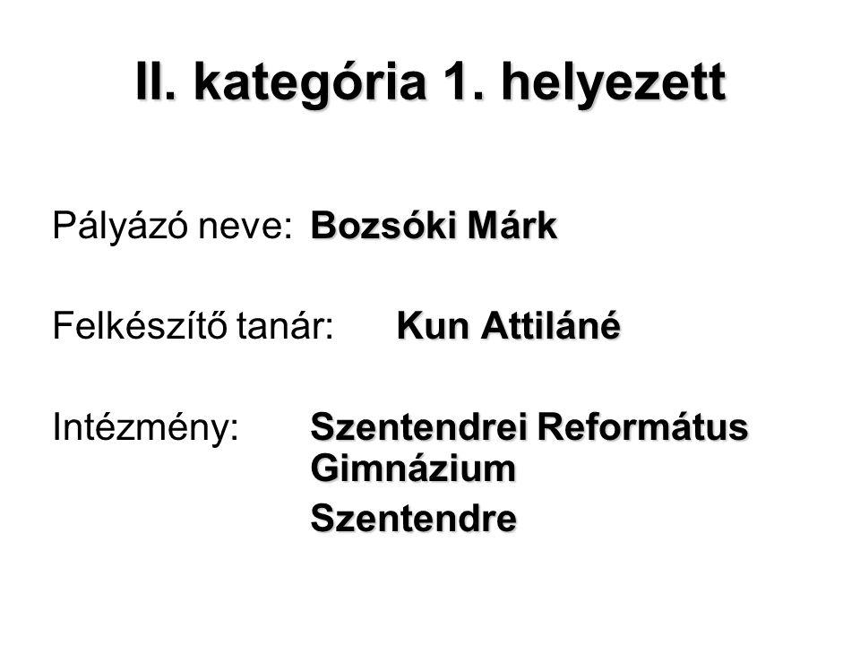 II. kategória 1.
