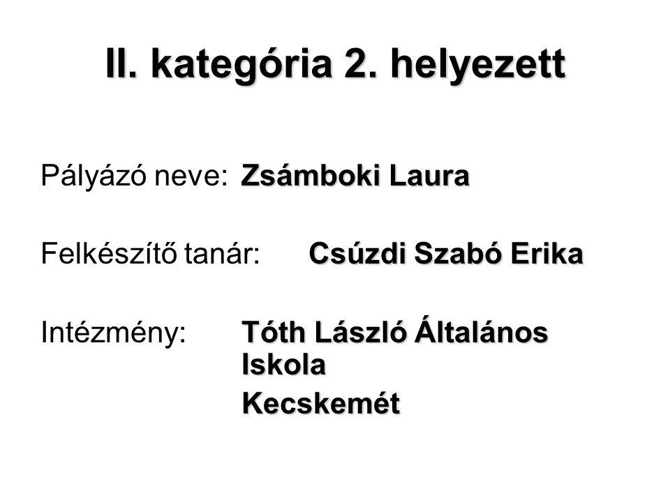II. kategória 2.