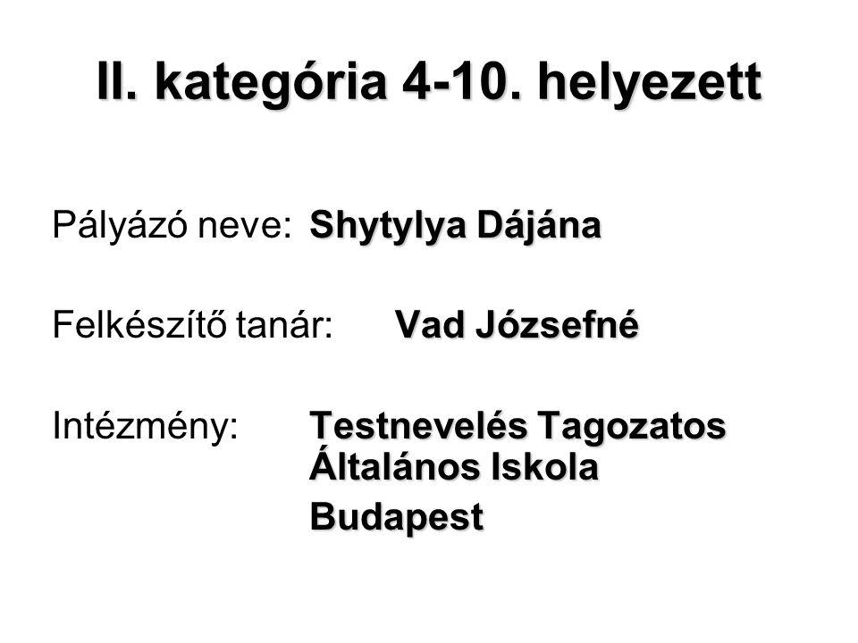 II. kategória 4-10.