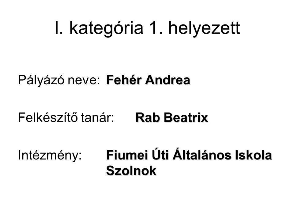 I. kategória 1.