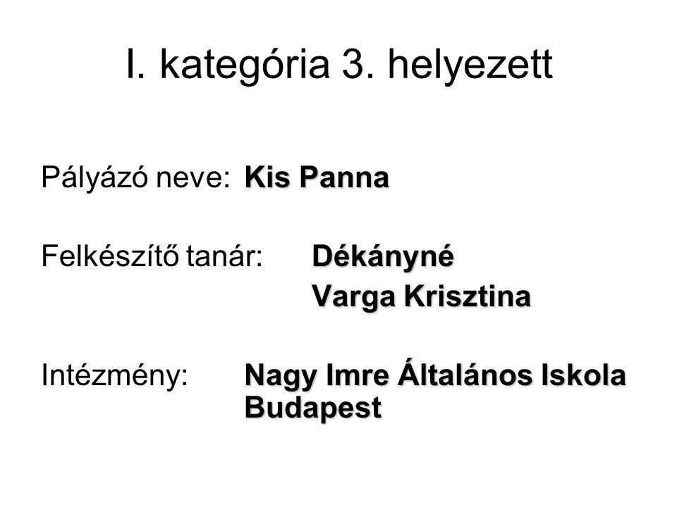 I. kategória 3.