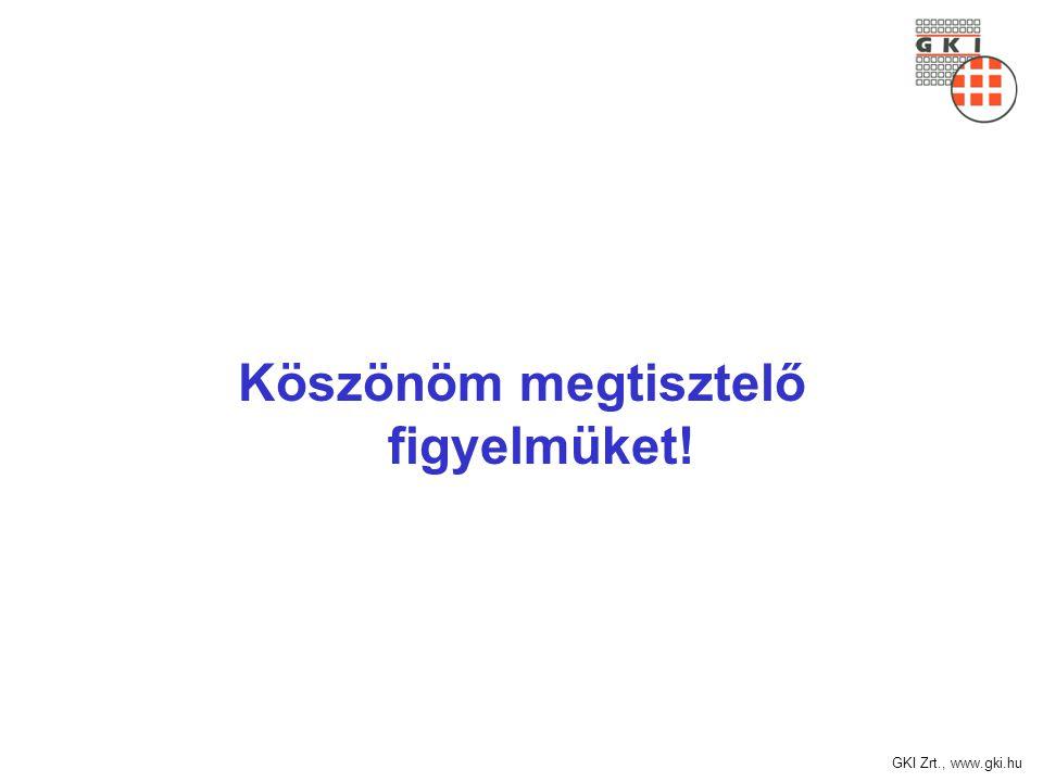 GKI Zrt., www.gki.hu Köszönöm megtisztelő figyelmüket!