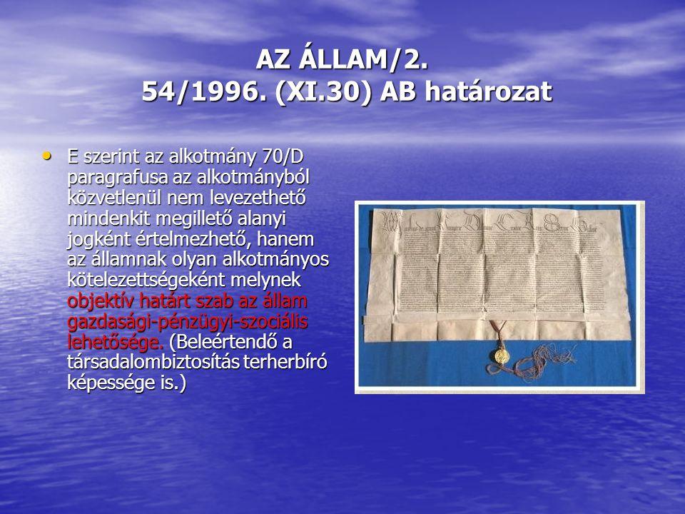 AZ ÁLLAM/2. 54/1996.